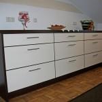 Küche mit Dekofront