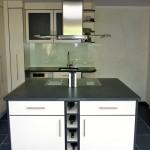 Küche mit Dekorfront